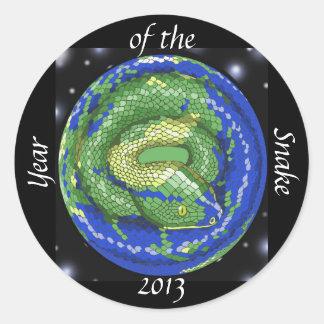 Año de la serpiente etiqueta