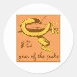 Año de la serpiente pegatinas redondas