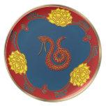 Año de la serpiente (placa del fiesta) platos