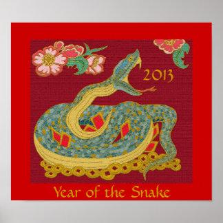 Año de la serpiente póster