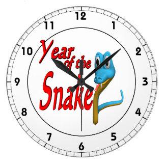 Año de la serpiente reloj redondo grande