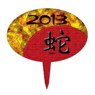 Año de la serpiente: Rojo y oro Figuras Para Tartas