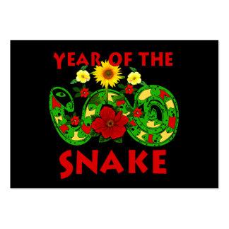 Año de la serpiente plantillas de tarjetas personales