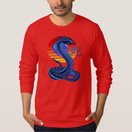 Año de la serpiente y del camisetas de Sun Camisas