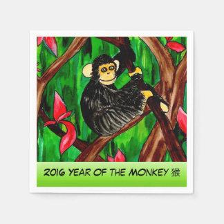 Año de la servilleta del mono servilleta de papel
