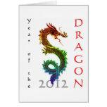 Año de la tarjeta 2012 de felicitación del dragón
