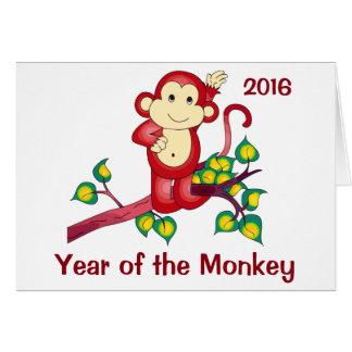 Año de la tarjeta china del Año Nuevo del mono