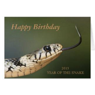 Año de la tarjeta de cumpleaños de encargo de la s