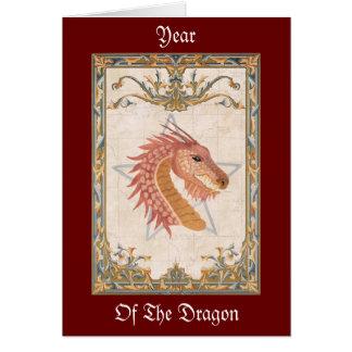 Año de la tarjeta de felicitación del dragón
