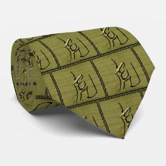 Año de la Tigre-Aceituna Corbatas Personalizadas