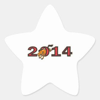 Año de lado de salto del caballo 2014 colcomanias forma de estrellaes personalizadas