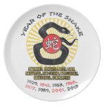 Año de las calidades de la serpiente 2013 platos