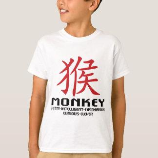 Año de las características del mono playeras