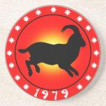 Año de las ovejas 1979 posavasos personalizados