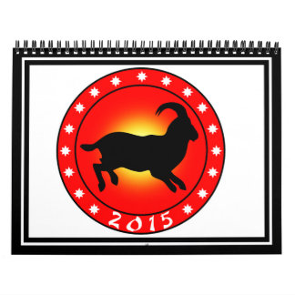 Año de las ovejas 2015 calendario de pared