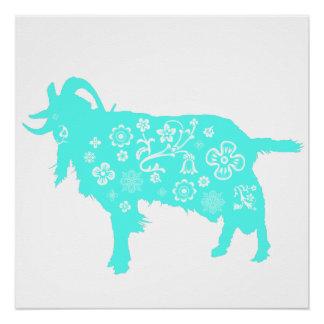 Año de las ovejas 2015 o del espolón de la cabra - perfect poster