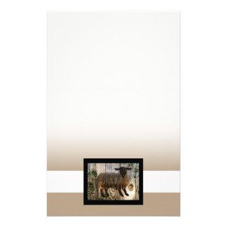 año de las ovejas de madera papeleria personalizada