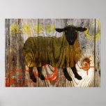 año de las ovejas de madera posters