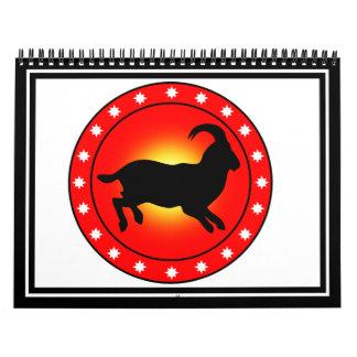 Año de las ovejas del espolón de la cabra calendarios