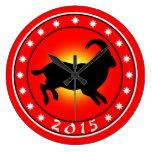 Año de las ovejas/del espolón/de la cabra reloj