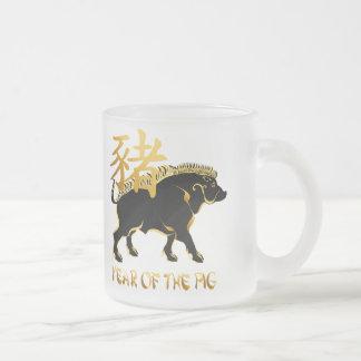 Año de las tazas Cerdo-Negras del símbolo del verr