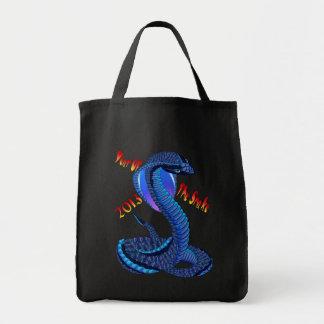 Año de los bolsos Serpiente-indicados con letras Bolsa Tela Para La Compra