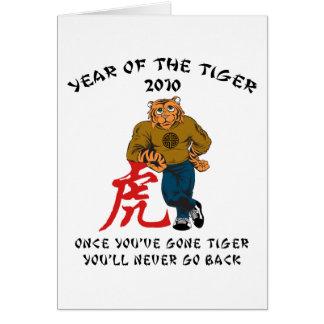 Año de los hombres del tigre 2010 tarjeta de felicitación
