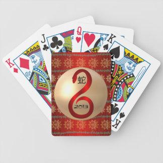Año de los naipes de la serpiente 2013 cartas de juego
