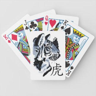 Año de los naipes del tigre baraja de cartas
