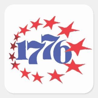 AÑO DE NUESTRA INDEPENDENCIA 1776 PEGATINA CUADRADA