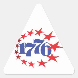 AÑO DE NUESTRA INDEPENDENCIA 1776 PEGATINA TRIANGULAR