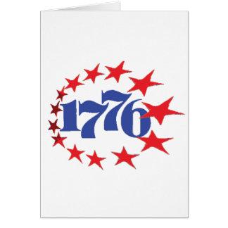 AÑO DE NUESTRA INDEPENDENCIA 1776 TARJETA DE FELICITACIÓN