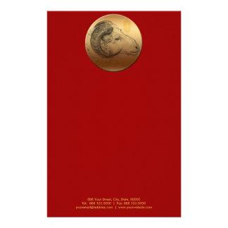 Año de oro 2015 del espolón papeleria de diseño
