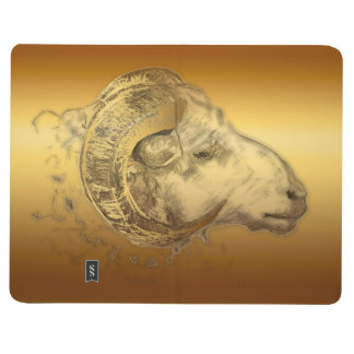 Año de oro de la cabra de las ovejas del espolón - cuadernos grapados