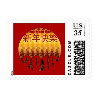 Año de oro del sello chino del Año Nuevo del mono