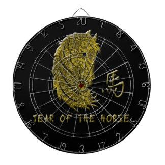 Año de Paisley del oro del caballo Tablero De Dardos