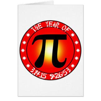 Año de pi 3/14/15 9:26: 53 tarjeta de felicitación