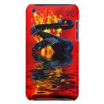 Año del Año Nuevo chino de la serpiente del negro  Barely There iPod Coberturas