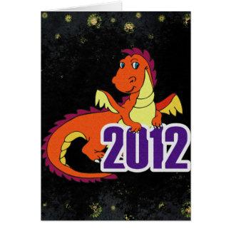 Año del Año Nuevo chino del dragón 2012 Tarjeta De Felicitación