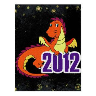 Año del Año Nuevo chino del dragón 2012 Tarjeta Postal