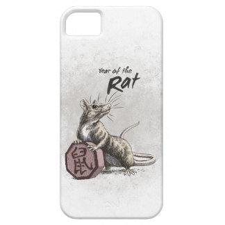 Año del arte chino del zodiaco de la rata iPhone 5 carcasas