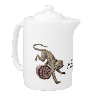 Año del arte chino del zodiaco del mono