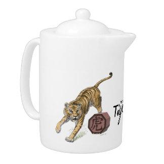 Año del arte chino del zodiaco del tigre