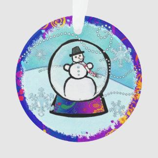AÑO del arte popular del globo de la nieve del