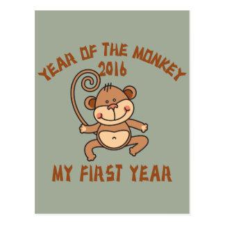 Año del bebé 2016 del mono tarjetas postales