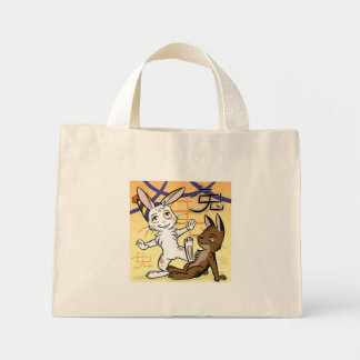Año del bolso del conejo bolsas lienzo