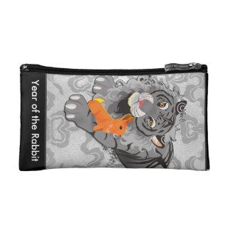 Año del bolso del cosmético del tigre/del conejo