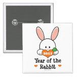 Año del botón chino del Año Nuevo del conejo Pin