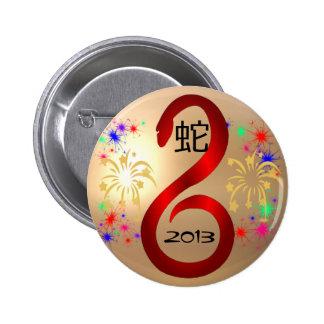 Año del botón de la serpiente pins