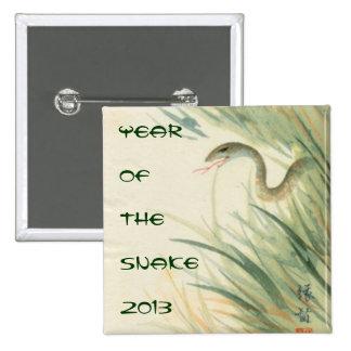 Año del botón de la serpiente pin